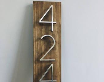 Modern House Numbers- Vertical