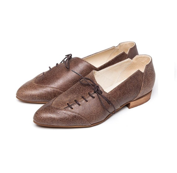 14c59a1bf5be3e Chaussures Oxford, Oxford, Oxford, femme marron chaussures, chaussures  femmes, chaussures cravate marron, chaussures en cuir ...