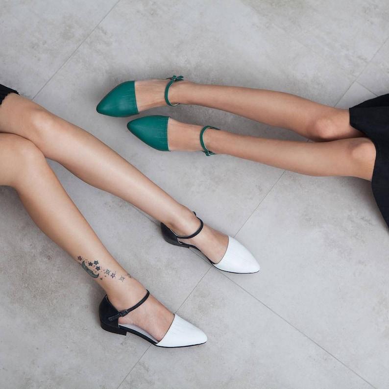 Women's shoes green sandals women