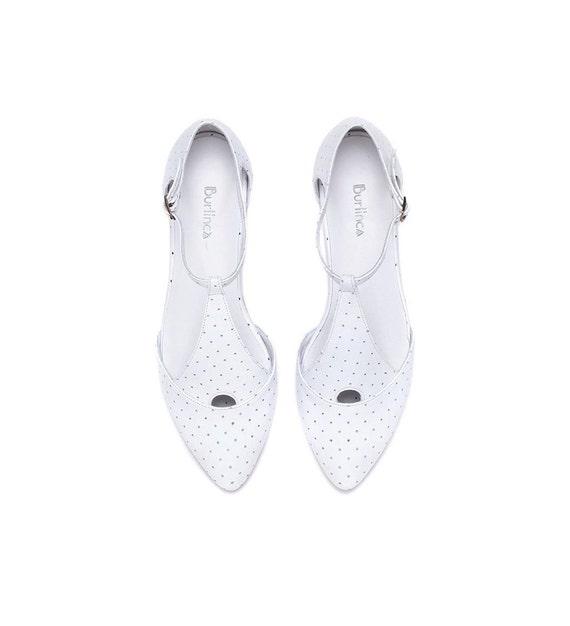 Białe Sandały ślubne Obuwie Damskie Białe Buty Płaskie Etsy