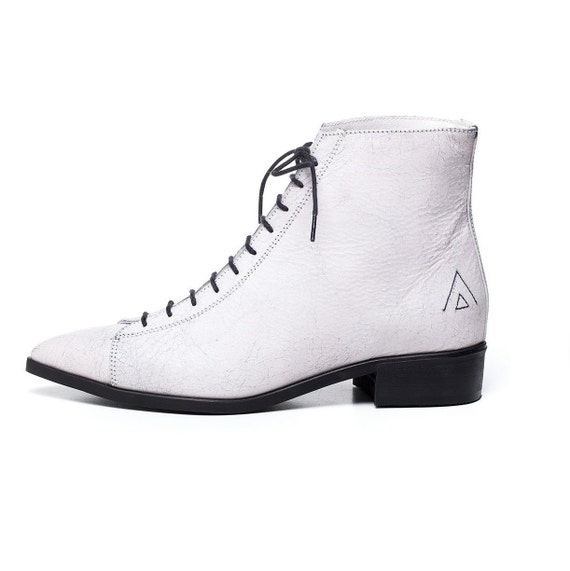 white shoes white ankle boots women