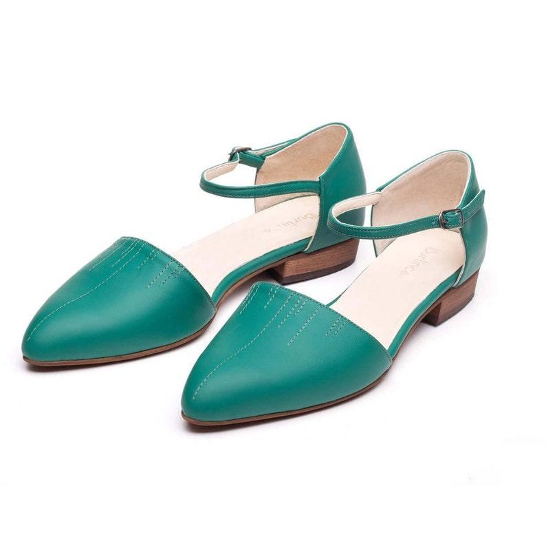 Frauen Grün Flache Sandalen Schuhe DerEtsy tshQrdC
