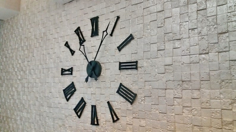 Horloge murale en bois «Paris» Taille 1.2m!