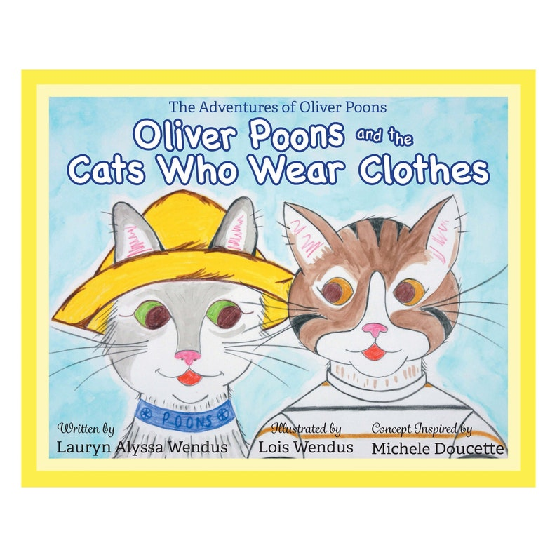 Oliver Poons & The Cats Who Wear Clothes Children's Book  image 0