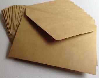 C6 114mm x 162mm Kraft Brown Envelopes Recycled Brown Craft Card Making