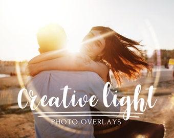 90 Creative light photo overlays