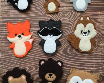 Woodland Creatures Finger Puppets