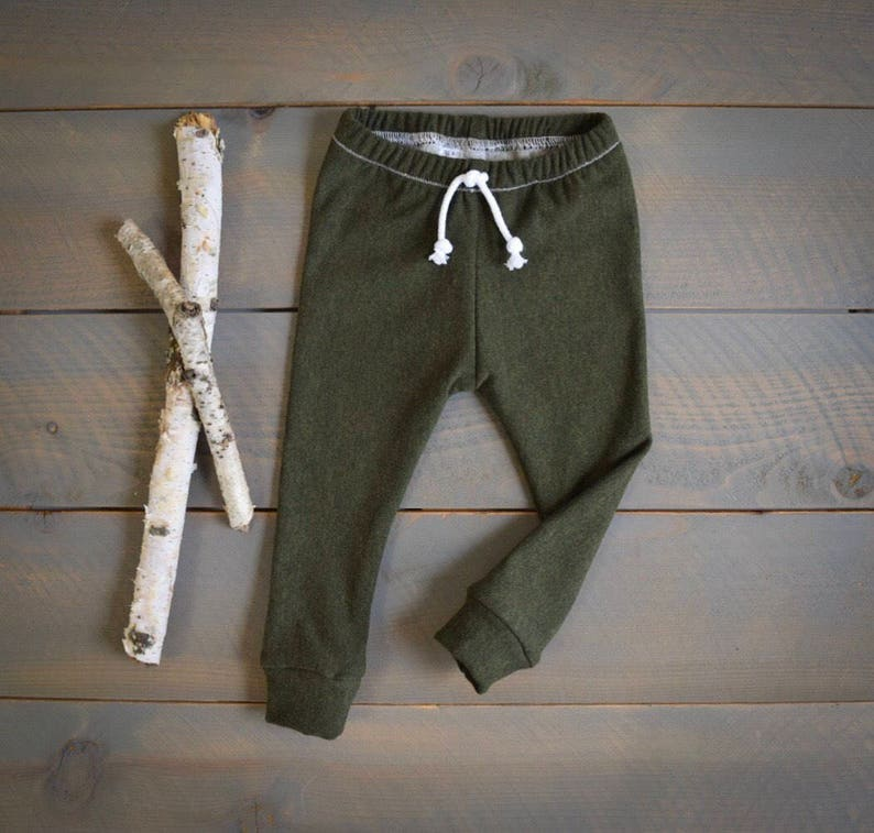 53943c4312f5 Baby joggers olive green organic infant toddler sweatpants