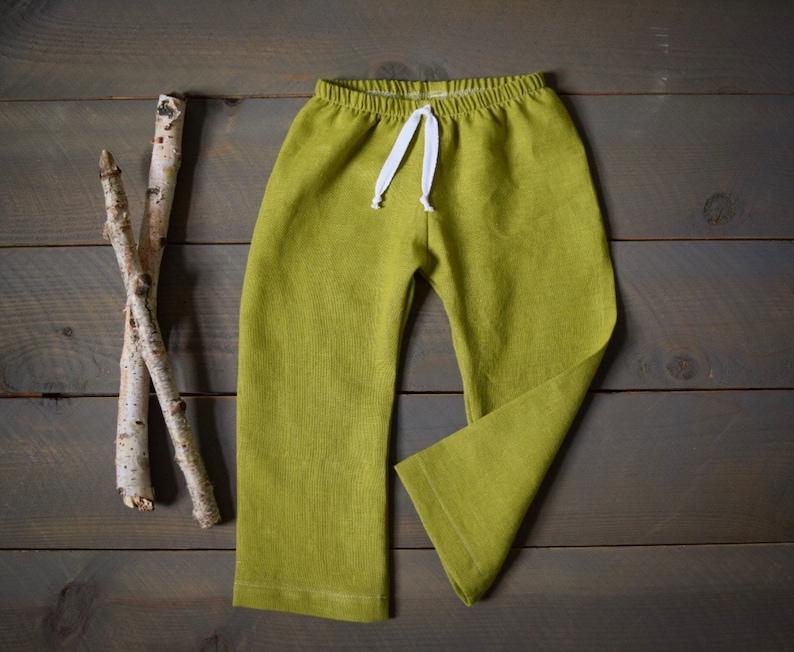 9672808cd035 Baby pants olive linen pants lime green cotton organic linen