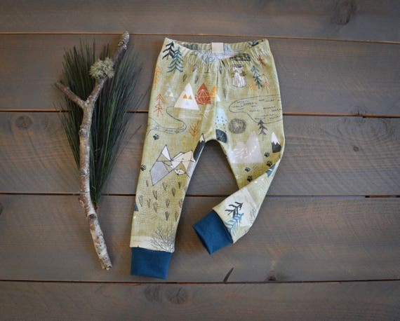 33d645f225d2 baby leggings mountain forest tree green toddler pants