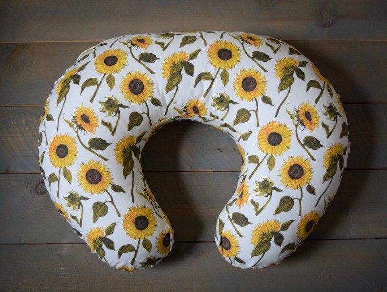 nursing pillow cover sunflower floral sunflowers cover for image 0