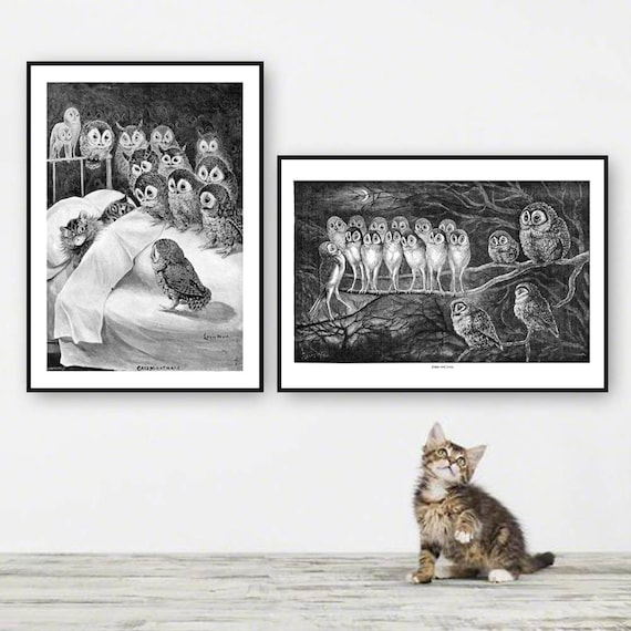 Cat Standing   by Louis Wain   Paper Print Reproduction
