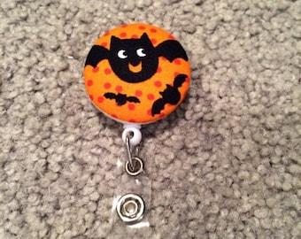 Halloween Bats Badge Reel ID Holder