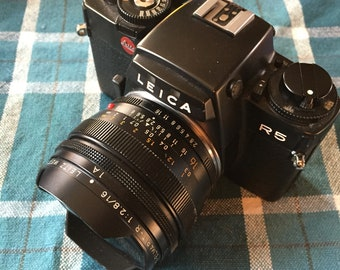 Leica R5 with a rare 2.8/16 Elmarit Fisheye lens