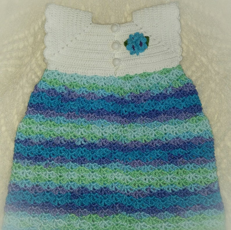 0bc11142f02d5 Crocheted multi color cotton baby girls dress/Crochet infant outfit/Crochet  baby clothes/Baby girl dress/Amazing gift for baby girl