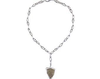 stone shield necklace