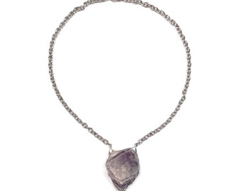 Chevron amethyst awaken necklace