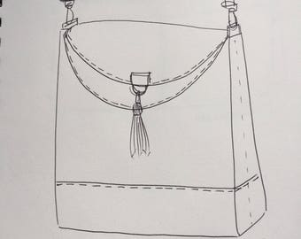 Custom design bag or wallet, picture for suggestion only