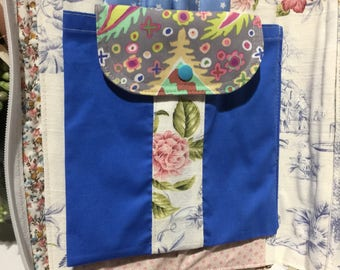 Upcycled book, clutch, bag organiser, drawing compendium
