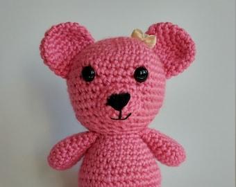 Teddy bear Pink/Bear crochet