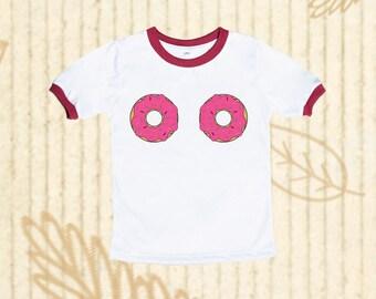 af620def Donut shirt, Donut Kids shirts, Ringer tee, Donut tee, Foodie Shirt, Kids  Tee, Funny Kids shirts, Toddler tshirt