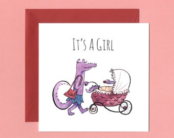 Pink Baby Girl Card