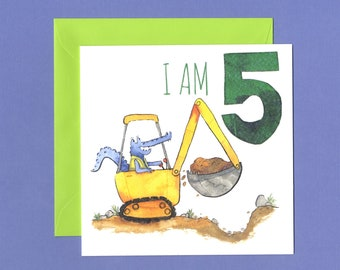 Children's 5th Birthday Card