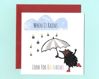 Rainbow Self Esteem Quote Card