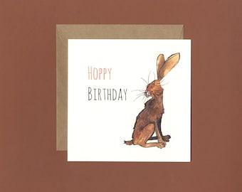 Hoppy Birthday Hare Birthday Card
