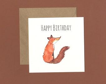 Foxy Happy Birthday Card