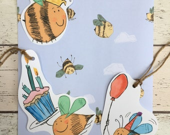 Bumble Bee party wrapping paper