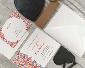 Otomi Print Wedding Invitations