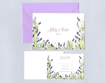 Lavender Wedding RSVP Invitations
