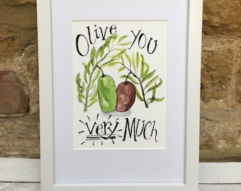 Olive You Very Much Family Love Prints