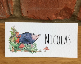 Woodland Mole Tent Fold Wedding Place Names