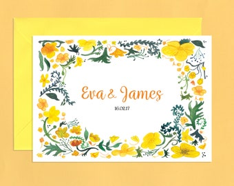 Country Buttercup Meadow Wedding Invitations