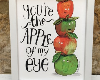 Apple Foodie Family Wall Art