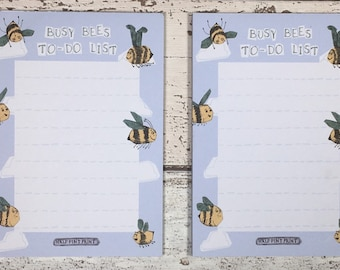 Bumble Bee Notepad Stocking Filler, day planner
