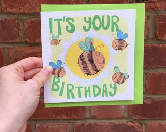 Bee Birthday Greetings Card