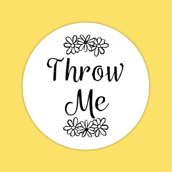 Throw Me Envelope Seal Stickers, Confetti Stickers, Wedding Stationery, Daisy Wedding