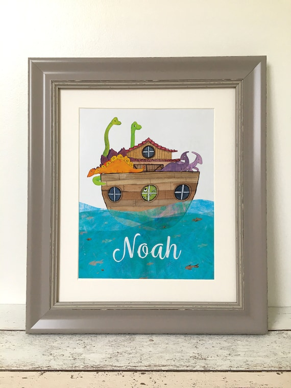 Noahs Ark Dinosaur Children's Room Framed Print