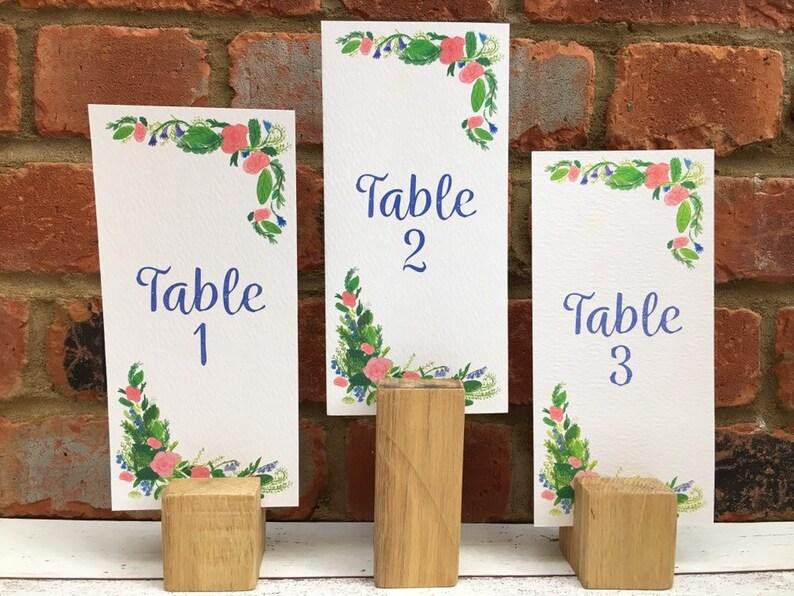 Pink Rose Wedding Table Number image 0