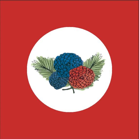 Envelope Seals, Wedding Labels, Wildflower Stickers, Envelope Stickers