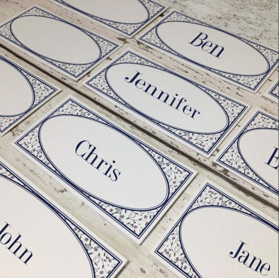 Flat Vintage Wedding Place Cards