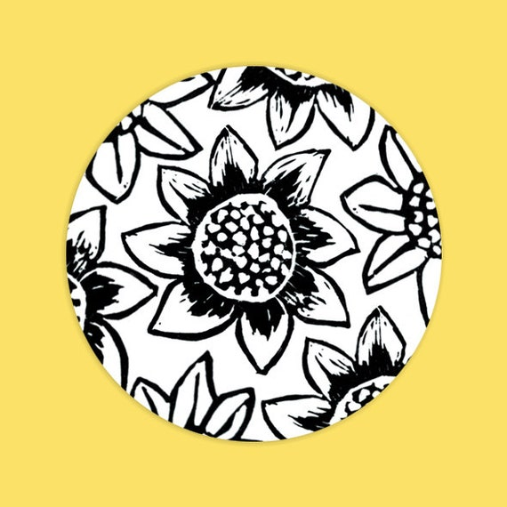 Thank You Envelope Seal Stickers, Sunflower Theme, Wedding Stationery, Favour Stickers, Customisable