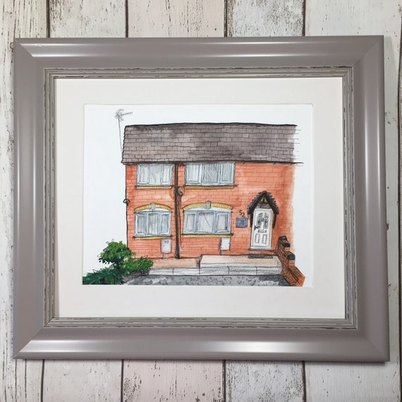 Ink Drawing House, House portrait, Custom house portrait, Draw My House, Housewarming Present, New House, Gift personalised gift, house pain