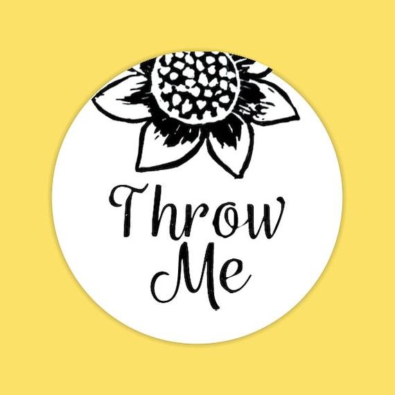 Throw Me Confetti Stickers, Wedding Stationery, Sunflower Wedding