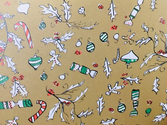 Christmas gingerbread gift wrap