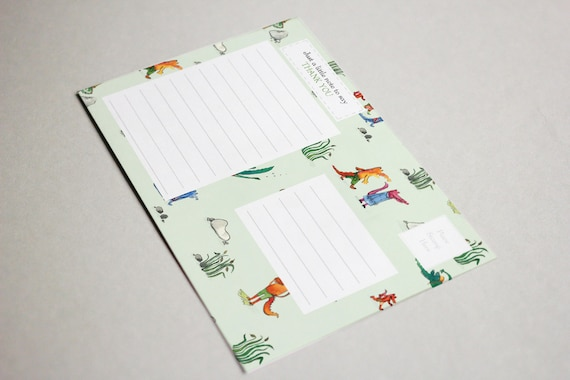 Postcard Children's Thank You Notes, Pack of 6,