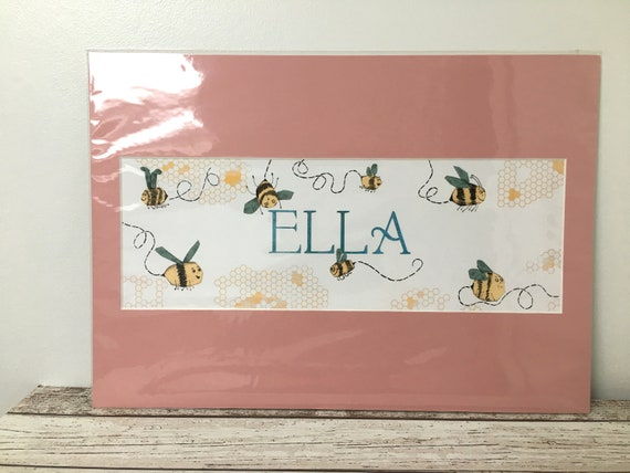 SALE Children's Bumble Bee Name Print